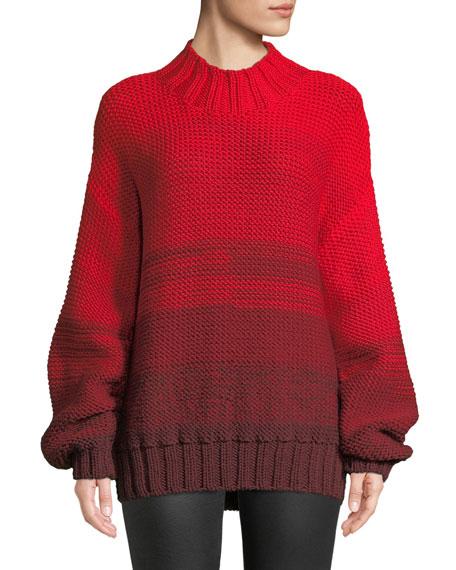 Reve Degrade Wool High-Neck Sweater
