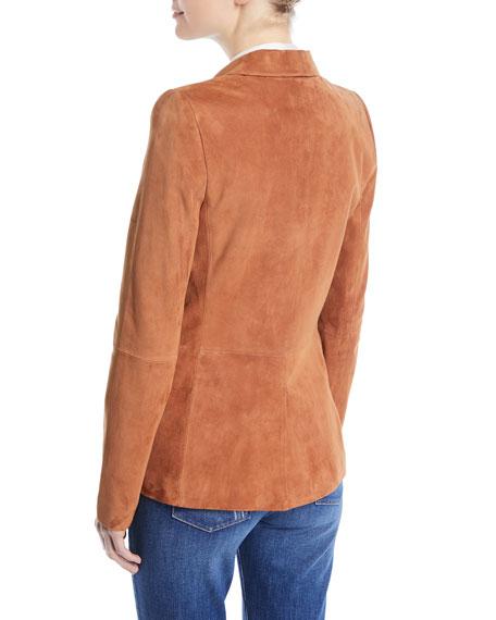 Macey Suede Shawl-Collar Blazer