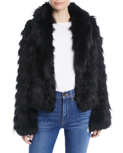 Nadia Hooded Fur Coat