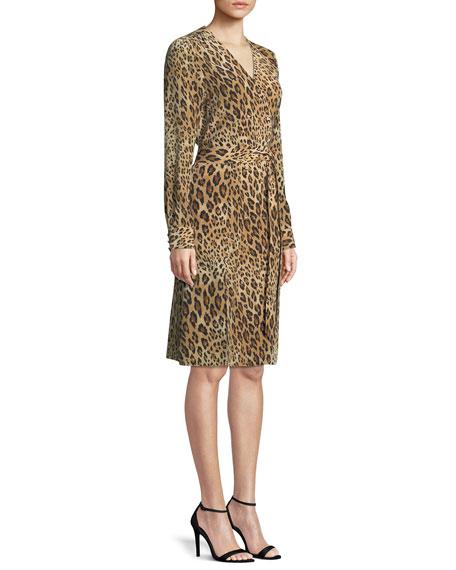 Sgt. Pepper Leopard-Print Silk Dress