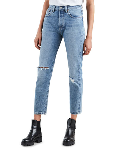 501 High-Rise Cropped Skinny Jeans