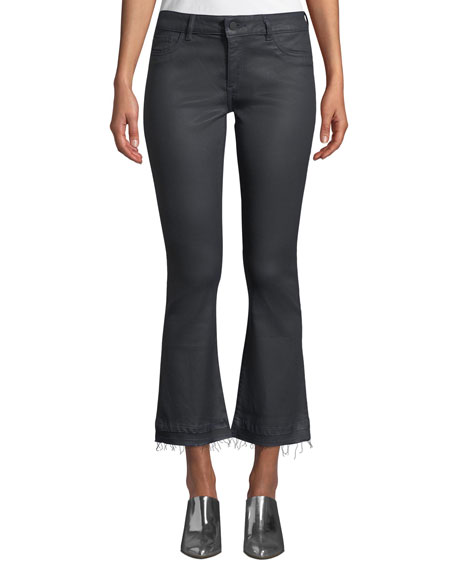 Lara Mid-Rise Instasculpt Coated Boot-Cut Jeans