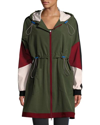 Saratoga Hooded Colorblock Anorak Jacket
