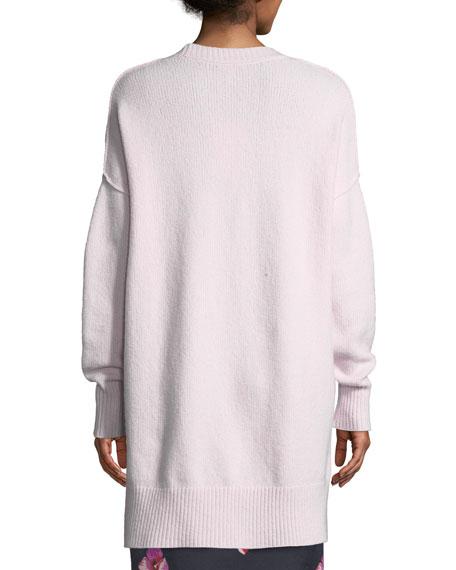 Limana V-Neck Long-Sleeve Wool-Blend Sweater