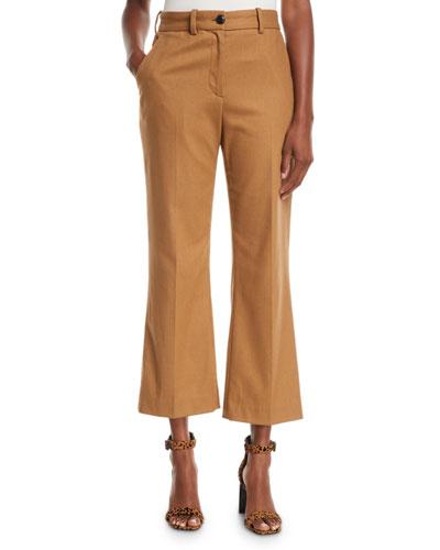 Libby Cropped Flare-Leg Pants