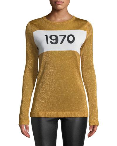 1970 Sparkle Graphic Sweater