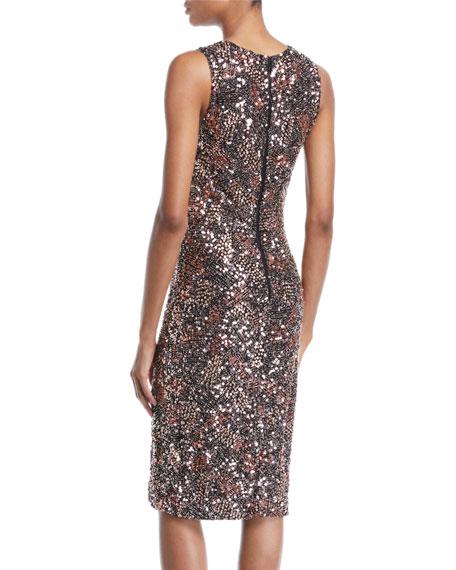 Natalie Embellished V-Neck Midi Dress w/ Slit