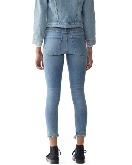 Sophie High-Rise Cropped Skinny Jeans with Chewed Hem
