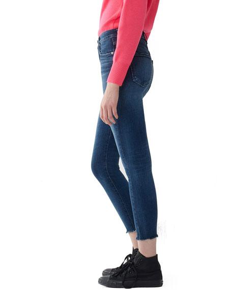 Sophie High-Rise Cropped Raw-Hem Skinny Jeans