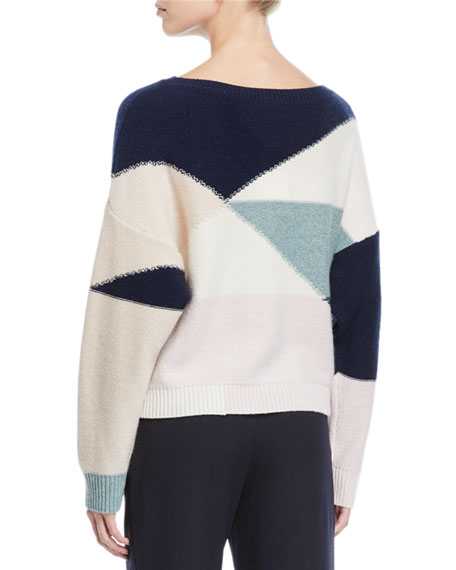 Megu Colorblock Pullover Sweater