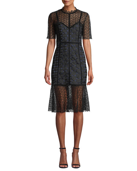 Elie Tahari KAILA LACE COCKTAIL DRESS