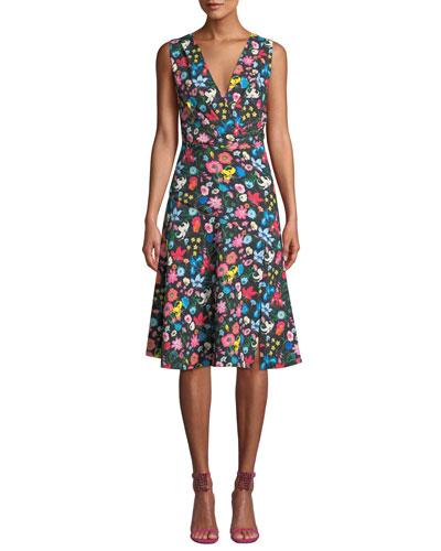 Jila Floral-Print A-line Dress