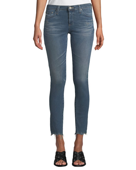 Image 1 of 1: The Legging Super Skinny Ankle Jeans w/ Chewed Hem