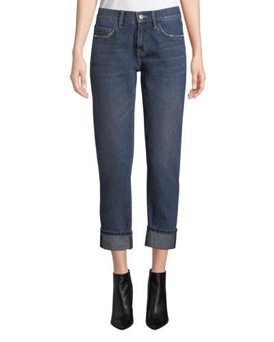 The Fling Cropped Straight-Leg Boyfriend Jeans