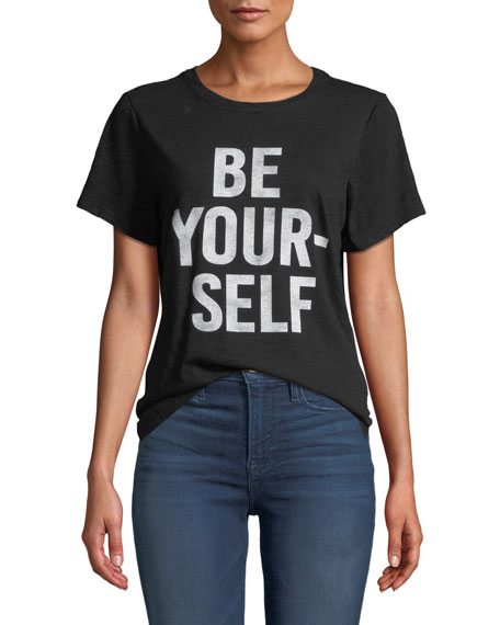 cinq a sept Be Yourself Graphic Crewneck Tee