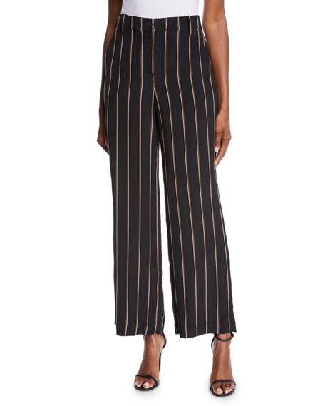 Erso Striped Silk Straight-Leg Pants