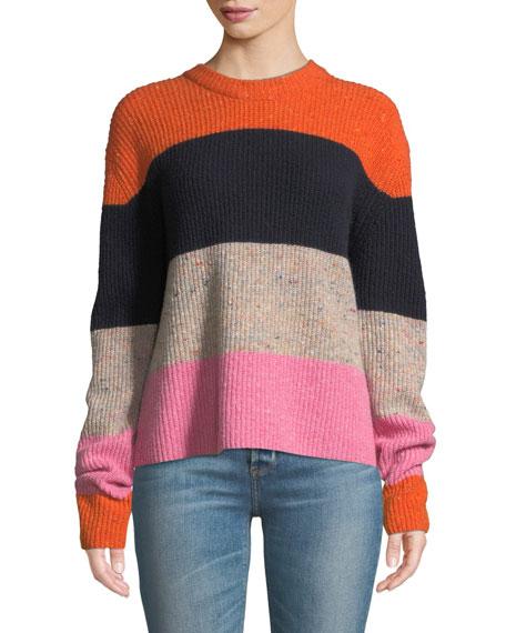 Georgina Colorblock Wool-Cashmere Sweater