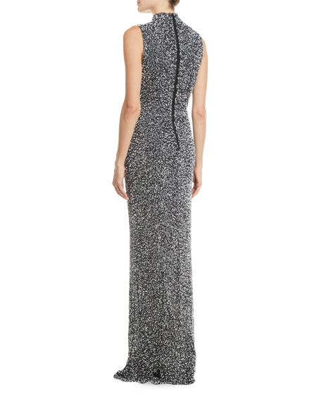 Arial Embellished Sleeveless V-Neck Gown