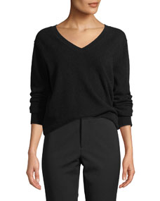 Weekend V Neck Cashmere Pullover Sweater by Vince