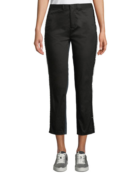 Nobu Embellished Two-Tone Tuxedo Pants