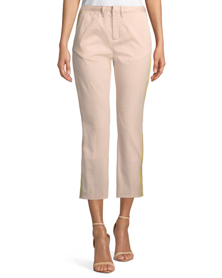 St. Honore Mid-Rise Racer Stripe Cropped Pants