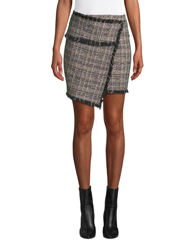 Passionate Tweed Fringe Short Skirt