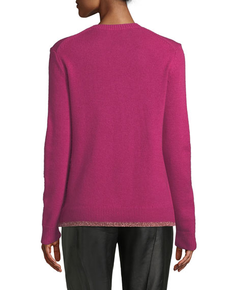 Pixel Rexy Graphic Wool-Cashmere Sweater