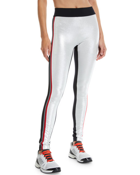 Kipi Metallic Racer Stripe Leggings