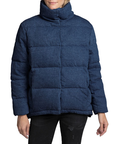 Prps QUILTED DENIM SWING PUFFER JACKET