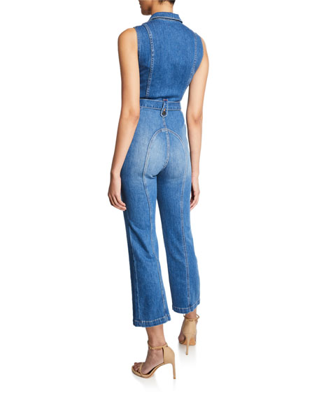 Gorgeous Sexy 70s Cropped Sleeveless Jumpsuit