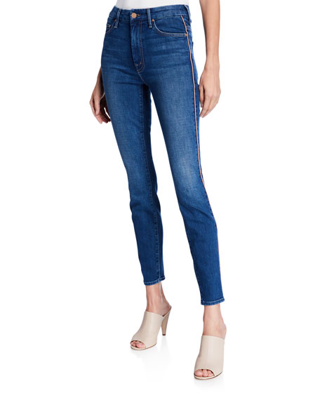 Looker High-Waist Ankle Skinny with Metallic Stripes