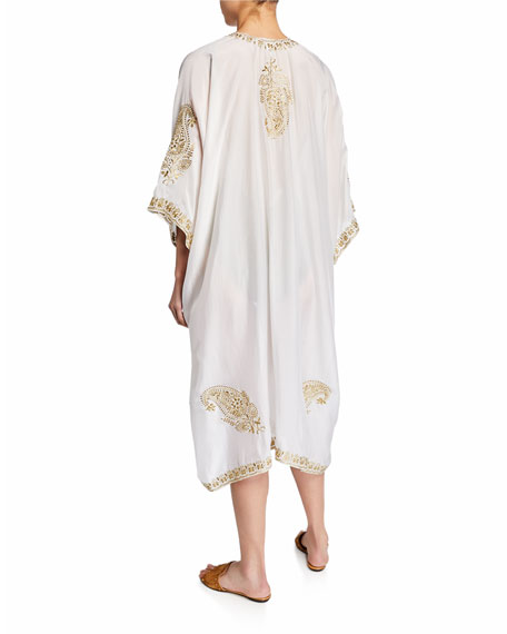 Babani Embroidered Coverup Kimono