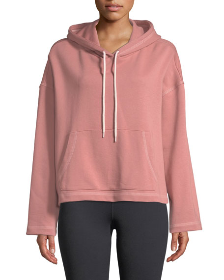Mila Hooded Cotton Active Pullover Sweater