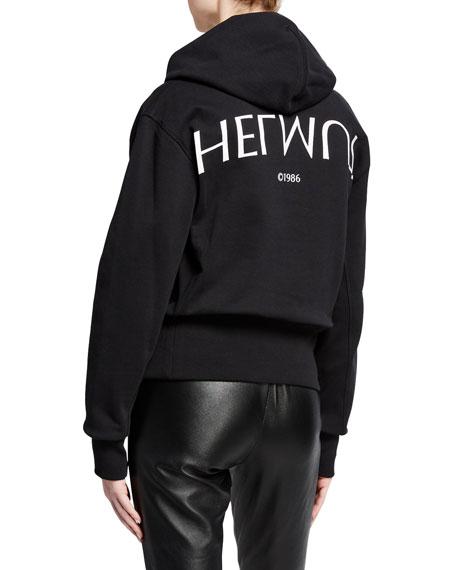 Logo Hack Cotton Pullover Hoodie