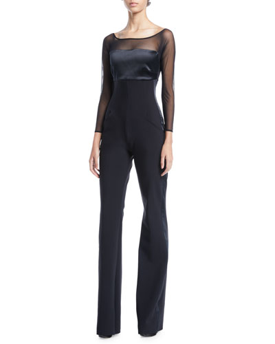 Eke Long-Sleeve Illusion Jumpsuit