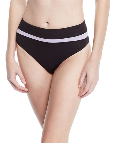 Amulet High-Rise Striped Swim Bottom