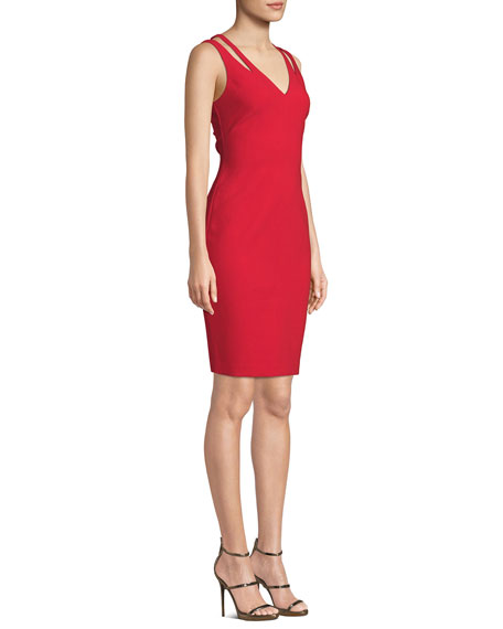 Cruz Cutout Sleeveless V-Neck Cocktail Dress