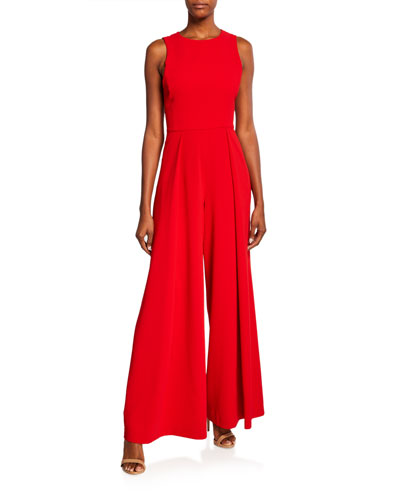 Bret Pleated Wide-Leg Jumpsuit