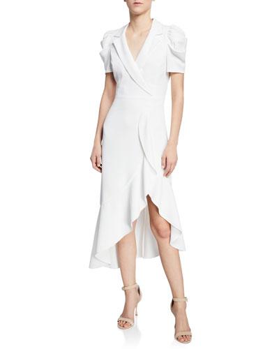 Solaris Cross-Front Collared Dress