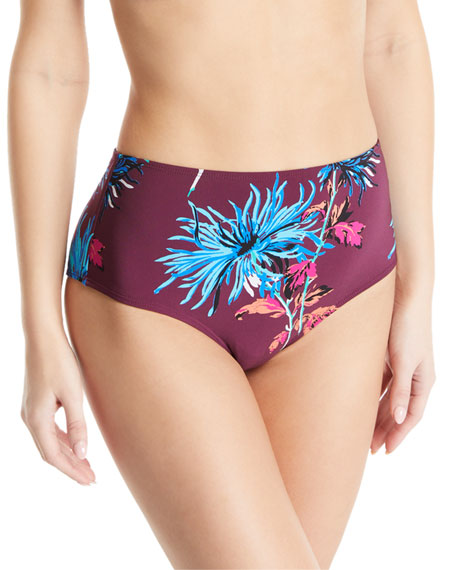 New Cheeky High-Waisted Floral Swim Bottoms