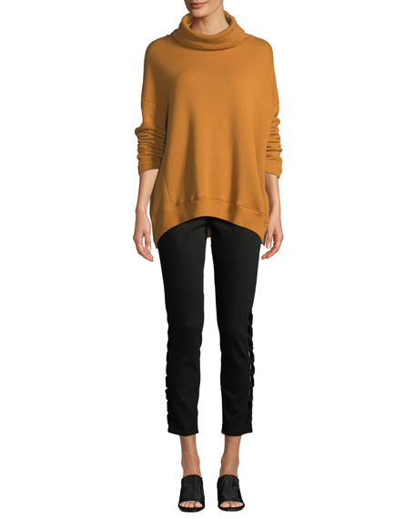 The Prima Cropped Mid-Rise Jeans with Intertwined Sides