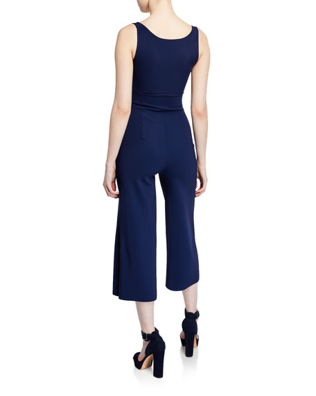 Charo Square-Neck Sleeveless Cropped Jumpsuit