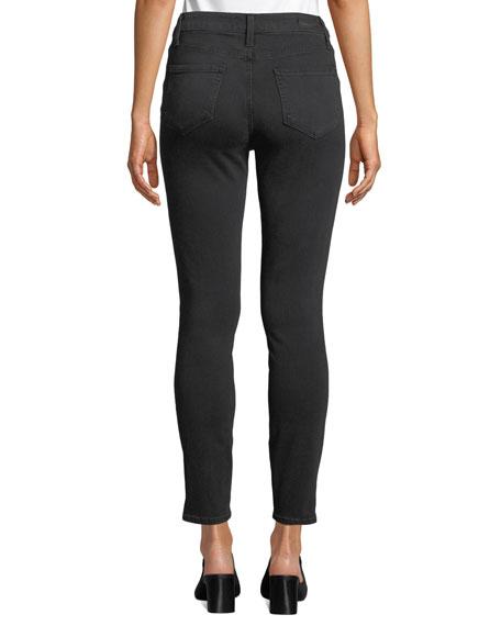 Roxxi High-Rise Ankle Skinny Jeans with Zipper Trim