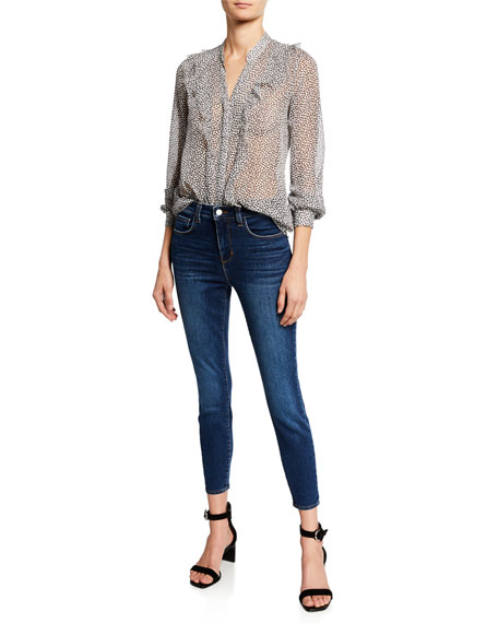 Margot High-Rise Skinny Ankle Jeans, Tuscan