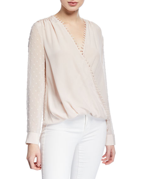 Perry Textured V-Neck Blouse