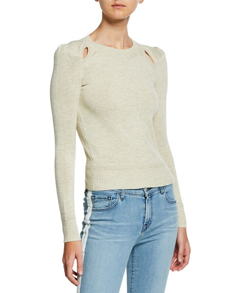 Etoile Isabel Marant Klee Cotton-Wool Pullover Sweater w/