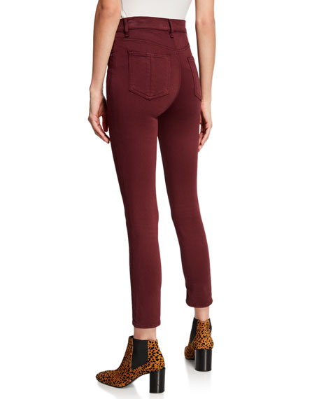 High-Rise Ankle Skinny Stretch Jeans