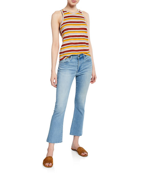 Le Crop Mini Boot-Cut Jeans with Braided Waistband