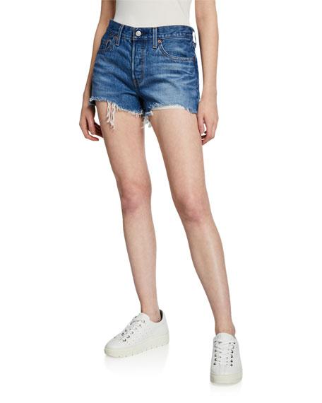 501 Frayed Denim Cutoff Shorts