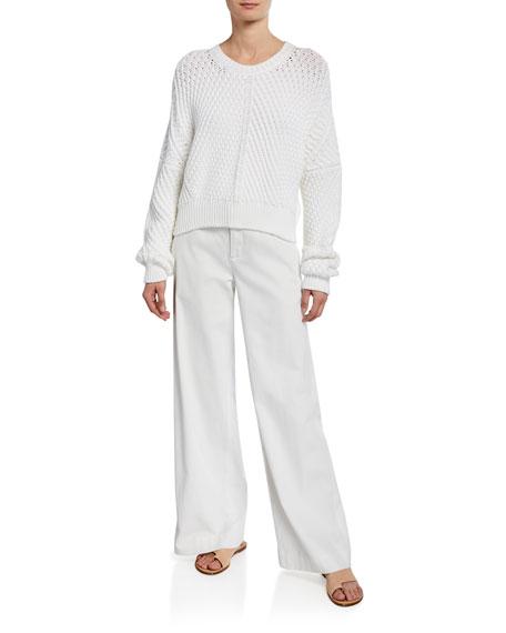 eadba31f18 Vince Market Wide-Leg Cotton-Linen Pants